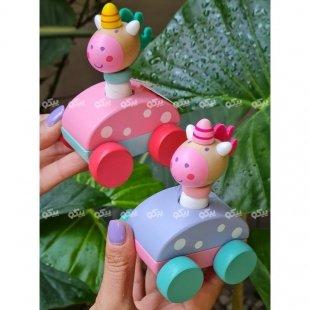 خرید اسباب بازی یونیکورن چوبی