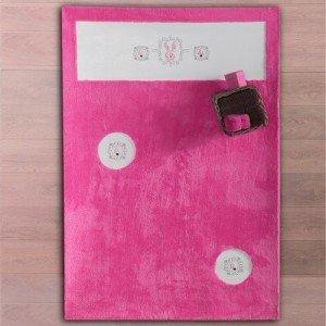 فرش اتاق کودک rabitto pink طرحkidboo