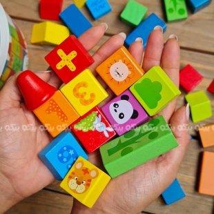 بلوک بازی چوبی کودک