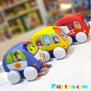 اسباب بازی ماشین پلیس پارچه ای رنگ بنفش 003185 winfun مدل 000179