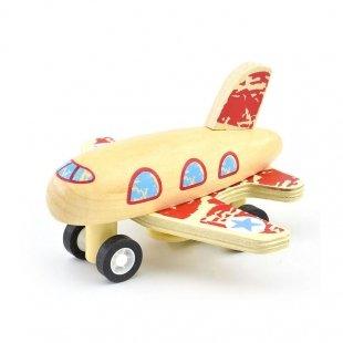خرید اسباب بازی هواپیما چوبی
