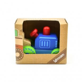 اسباب بازی تراکتور جغجغه ای چوبی