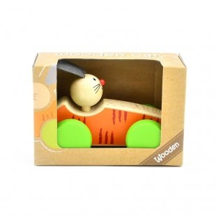 خرید اسباب بازی ماشین چوبی با راننده