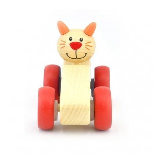 ماشین ماهی چوبی پیکاردو با گربهی راننده
