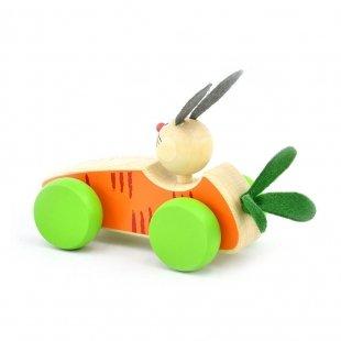 اسباب بازی ماشین چوبی با راننده کد BZ-01-C