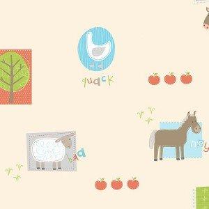 کاغذ دیواری انگلیسی اتاق کودک - هوپلا DL 30719