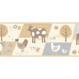 حاشیه ( بوردر ) کاغذ دیواری انگلیسی اتاق کودک - هوپلا DLB 07530