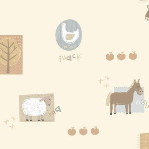 کاغذ دیواری انگلیسی اتاق کودک - هوپلا DL 30718