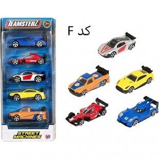 ست اسباب بازی ماشین فلزی 5 عددی کد 1416212