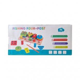 خرید اسباب بازی چوبی مونته سوری و ماهیگیری آهنربایی