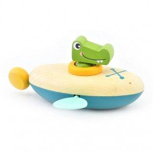 اسباب بازی قایق چوبی کروکودیل