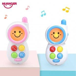 موبایل اسباب بازی موزیکال آبی کودک کد HE0512