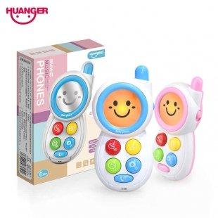 موبایل اسباب بازی موزیکال صورتی کودک کد HE0513