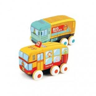 اسباب بازی اتوبوس پارچه ای 2 عددی کد HE0242