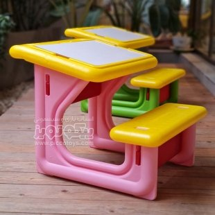 قیمت میز تحریر کودک رنگ صورتی کد 108
