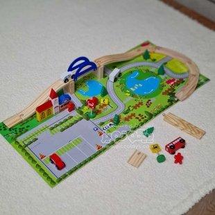 اسباب بازی چوبی ساخت شهرک ترافیک