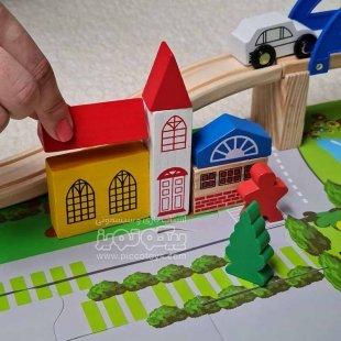 اسباب بازی چوبی ساخت شهرک ترافیک مدل MB001