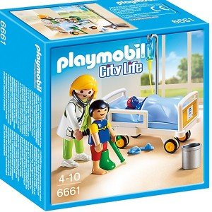 Playmobil City Life Children's Hospital Doctor with Child کد 6661