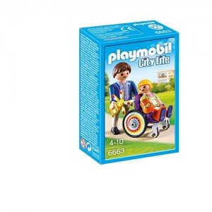 دختر ویلچر سوار پلی موبيل مدل Child in Wheelchair 6663