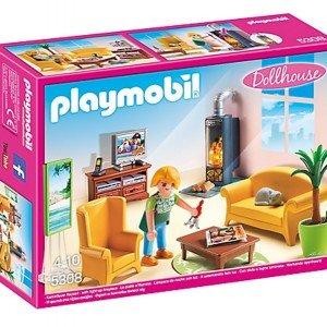ساختني پلي موبيل مدل Living Room with Fireplace Doll House 5308