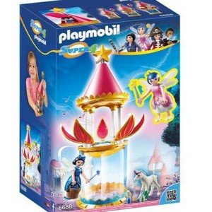 قصر پلی موبیل مدل PLAYMOBIL Musical Flower Tower with Twinkle 6688