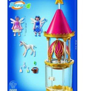 خرید قصر پلی موبیل مدل PLAYMOBIL Musical Flower Tower with Twinkle 6688