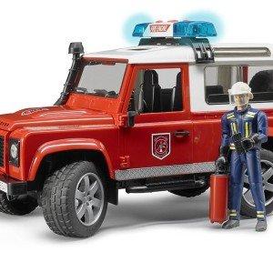 ماشین بازی لندروور آتش نشانی bruder مدل Defender Station Wagon 02596