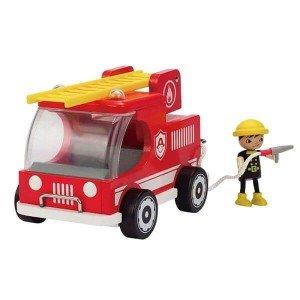 ماشین آتشنشانی چوبی کودک fire truck hape 3008