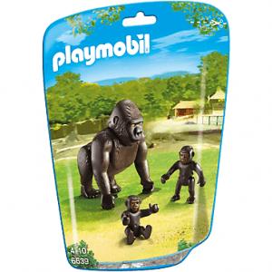 خانواده گوریل جنگل پلی موبيل مدل gorilla with babies pm 6639