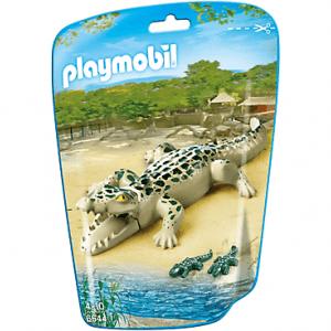 خانواده تمساح پلی موبيل مدل alligator with babies pm 6644