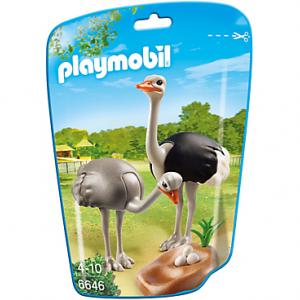 خانواده شتر مرغ پلی موبيل مدل ostriches with nest pm 6646