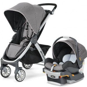 کالسکه و کریر chicco مدل BRAVO TRAVEL SYSTEM LILLA USA کد CH79095-67