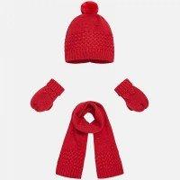 ست کلاه، شال ، دست کش mayoral رنگ قرمز کد 10025