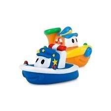 پوپت وان حمام طرح قایق 2عددی رنگ آبی و نارنجی nuby کد id6199