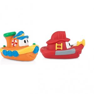 پوپت وان حمام طرح قایق 2عددی رنگ قرمز و نارنجی nuby کد id6199