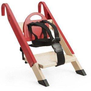 صندلی غذا چوبی کودک stokke رنگ قرمز