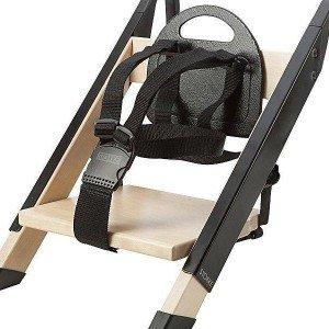 صندلی غذا چوبی کودک stokke رنگ مشکی