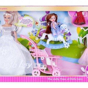 عروسک دفا با لوازم کد 6074 رنگ سفید