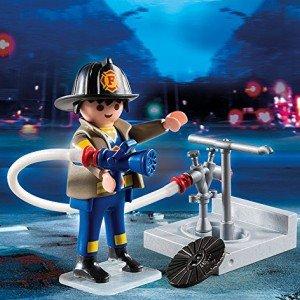 آدمک آتش نشان پلی موبيل مدل Fireman with Hose Building Kit 4795