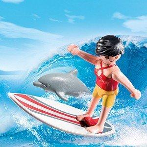 خرید دختر موج سوار پلی موبيل مدل Surfer with Surf Board 5372