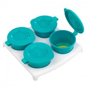 ظرف درب دار 4 عددیExplora Freezer Pots  tommee tippee کد 446500  رنگ آبی