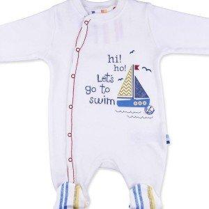 سرهمی آستین بلند جوراب دار طرح قایق baby center کد91783