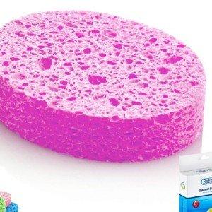 اسفنج حمام baby jem کد 020 رنگ صورتی