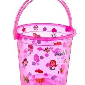 سطل آب حمام baby jem کد 399 رنگ صورتی