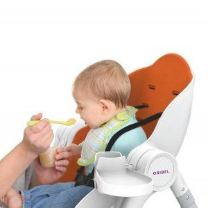 'صندلی غذا oribel رنگ نارنجی