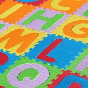 کفپوش تاتامی کودک حروف لاتین 26 عددی مدل 2028