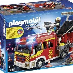 ماشنی آتش نشانی  پلی موبيل مدل Fire Engine with Lights and Sound 5363