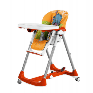صندلی غذا نارنجی  peg perego مدل  Prima Papa Diner High Chair hippo arancio