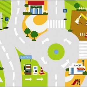 کفی ترافیک ماشین بازی کودک (m 4×2.5)