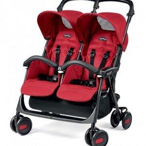 کالسکه peg perego مدل Aria Twin Shopper رنگ mod red